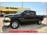 2010 Brilliant Black Crystal Pearl Dodge Ram 1500 ST Crew Cab 4x4 #71337489