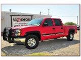 2005 Victory Red Chevrolet Silverado 1500 LS Crew Cab #71337401