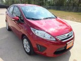 2013 Ruby Red Ford Fiesta SE Sedan #71384198