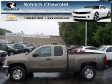 2013 Mocha Steel Metallic Chevrolet Silverado 1500 LT Extended Cab 4x4 #71384171