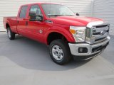 2012 Vermillion Red Ford F250 Super Duty XLT Crew Cab 4x4 #71383774