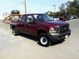 2004 Dark Toreador Red Metallic Ford F250 Super Duty XL SuperCab 4x4 #71384063