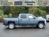 2013 Blue Granite Metallic Chevrolet Silverado 1500 LT Crew Cab 4x4 #71383736