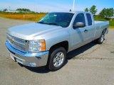 2013 Silver Ice Metallic Chevrolet Silverado 1500 LT Extended Cab #71384031