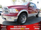 2012 Deep Cherry Red Crystal Pearl Dodge Ram 1500 Laramie Crew Cab 4x4 #71383672