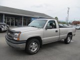 2004 Silver Birch Metallic Chevrolet Silverado 1500 Regular Cab 4x4 #71435194
