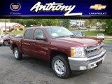 2013 Deep Ruby Metallic Chevrolet Silverado 1500 LT Crew Cab 4x4 #71435178