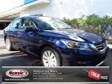 2013 Obsidian Blue Pearl Honda Accord EX-L Sedan #71434419
