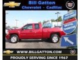 2007 Sport Red Metallic Chevrolet Silverado 1500 LT Z71 Extended Cab 4x4 #71435153