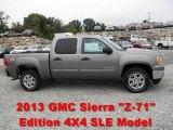 2013 Mocha Steel Metallic GMC Sierra 1500 SLE Crew Cab 4x4 #71435084