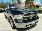 2009 Brilliant Black Crystal Pearl Dodge Ram 1500 Laramie Crew Cab #71434589