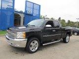 2012 Black Granite Metallic Chevrolet Silverado 1500 LT Extended Cab 4x4 #71434577