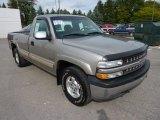 2001 Light Pewter Metallic Chevrolet Silverado 1500 LS Regular Cab 4x4 #71504861