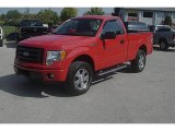 2010 Vermillion Red Ford F150 STX Regular Cab 4x4 #71504750