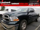 2011 Hunter Green Pearl Dodge Ram 1500 SLT Quad Cab #71531262