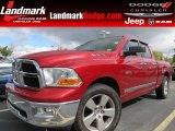 2009 Inferno Red Crystal Pearl Dodge Ram 1500 SLT Quad Cab #71531255