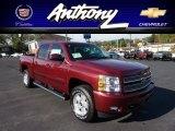 2013 Deep Ruby Metallic Chevrolet Silverado 1500 LT Crew Cab 4x4 #71532298
