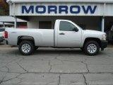 2012 Silver Ice Metallic Chevrolet Silverado 1500 Work Truck Regular Cab 4x4 #71531148