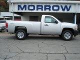 2012 Silver Ice Metallic Chevrolet Silverado 1500 Work Truck Regular Cab 4x4 #71531147