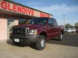2004 Dark Toreador Red Metallic Ford F250 Super Duty XL SuperCab 4x4 #71532229