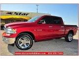 2010 Inferno Red Crystal Pearl Dodge Ram 1500 Lone Star Crew Cab 4x4 #71531733