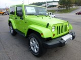 2013 Jeep Wrangler Gecko Green