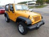 2013 Jeep Wrangler Dozer Yellow
