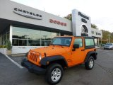 2012 Crush Orange Jeep Wrangler Sport 4x4 #71531685