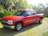 2002 Victory Red Chevrolet Silverado 1500 LS Extended Cab #545873