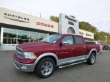 2012 Deep Cherry Red Crystal Pearl Dodge Ram 1500 Laramie Crew Cab 4x4 #71531651