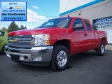 2012 Victory Red Chevrolet Silverado 1500 LT Extended Cab 4x4 #71531032