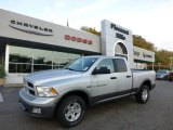 2012 Bright Silver Metallic Dodge Ram 1500 Outdoorsman Quad Cab 4x4 #71531640