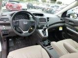 2013 Honda CR-V EX-L AWD Beige Interior