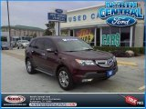 2007 Dark Cherry Red Pearl Acura MDX  #71531433