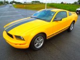 2005 Screaming Yellow Ford Mustang V6 Premium Coupe #71531989