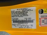 2005 Mustang Color Code for Screaming Yellow - Color Code: D6