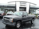2004 Dark Green Metallic Chevrolet Silverado 1500 LS Regular Cab 4x4 #71531354