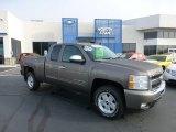 2011 Mocha Steel Metallic Chevrolet Silverado 1500 LT Extended Cab 4x4 #71531337