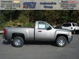 2013 Graystone Metallic Chevrolet Silverado 1500 Work Truck Regular Cab 4x4 #71531326