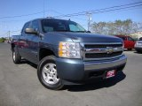2008 Blue Granite Metallic Chevrolet Silverado 1500 LT Crew Cab 4x4 #71531847