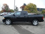 2012 Black Dodge Ram 1500 Express Quad Cab 4x4 #71633713
