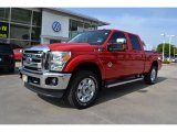 2012 Vermillion Red Ford F250 Super Duty Lariat Crew Cab 4x4 #71633995