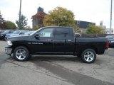 2012 Black Dodge Ram 1500 Big Horn Crew Cab 4x4 #71633710