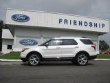 2013 White Platinum Tri-Coat Ford Explorer Limited 4WD #71633654