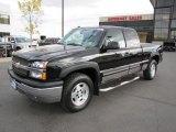 2004 Black Chevrolet Silverado 1500 Z71 Extended Cab 4x4 #71634052
