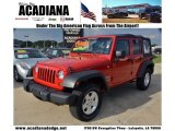 2012 Flame Red Jeep Wrangler Unlimited Sport 4x4 #71687941