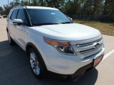 2013 White Platinum Tri-Coat Ford Explorer Limited #71688490