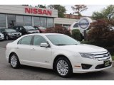 2010 White Platinum Tri-coat Metallic Ford Fusion Hybrid #71687880