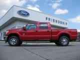 2012 Vermillion Red Ford F250 Super Duty XLT Crew Cab 4x4 #71687858