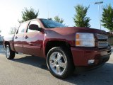 2013 Deep Ruby Metallic Chevrolet Silverado 1500 LTZ Crew Cab 4x4 #71688148